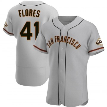 Men's San Francisco Giants Wilmer Flores Gray Road Jersey - Authentic